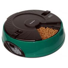 Feedex - Автокормушка на 6 кормлений для сухого корма и консервов Зеленая