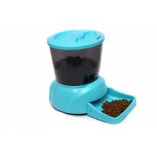 Feedex - Автокормушка на 2 кг корма для кошек и мелких пород собак голубая