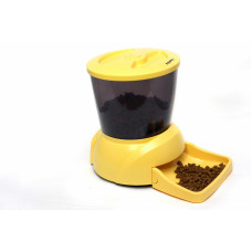Feedex - Автокормушка на 2 кг корма для кошек и мелких пород собак желтая