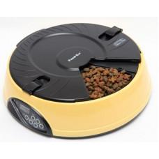 Feedex - Автокормушка желтая на 6 кормлений для сухого корма и консервов