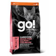 Go! - Корм для котят и кошек, с лососем и треской, беззерновой (CARNIVORE)