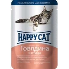 Happy cat - Кусочки в соусе с говядиной и птицей