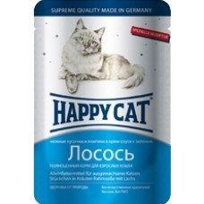 Happy cat - Кусочки в соусе с лососем