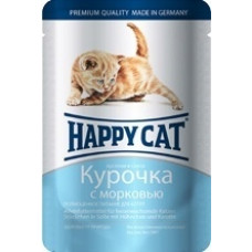 Happy cat - Кусочки в желе для котят с курицей и морковью