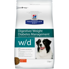 Hill's  w/d - Корм для собак лечение сахарного диабета, запоров, колитов (Digestive / Weight / Diabetes Management w/d)