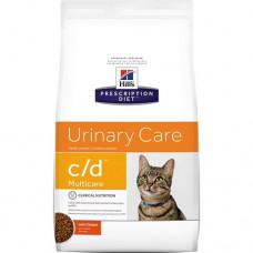 Hill's - Prescription Diet C/D для кошек - профилактика мочекамен. болезни (МКБ): курица