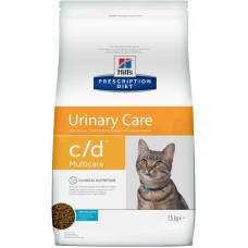 Hill's - Prescription Diet C/D для кошек - профилактика мочекам. болезни (МКБ): океан. рыба