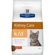 Hill's - Prescription Diet k/d для кошек лечение почек, сердца и нижнего отдел мочевывод.путей