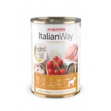 Italian Way - Консервы для собак с курицей,томатами и рисом