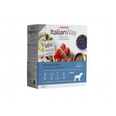 """Italian Way - Гипоаллергенное печенье для собак """"Лосось и черника"""""""
