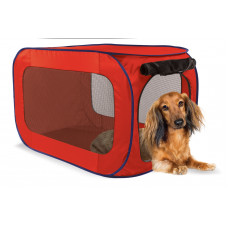 Kitty City - Переносной домик для собак малых пород 38,1*38,1*66 см, полиэстер (Portable dog kennel small)