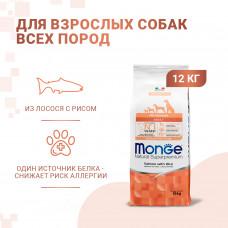 Monge - Корм для собак всех пород, лосось с рисом (Dog Speciality)
