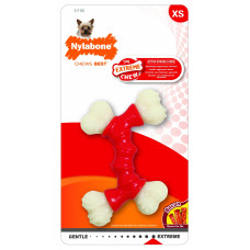 Nylabone - Двойная Косточка, экстра-жесткая, аромат бекона, XS (Extreme Chew Double Bone)