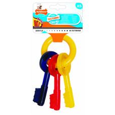 Nylabone - Ключи для щенков с режущимися зубами, аромат бекона, XS (Puppy Teething Keys)