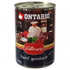 """Ontario - Консервы для собак """"Гуляш из говядины"""""""