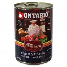 """Ontario - Консервы для собак """"Минестроне с Курицей и Свининой"""""""