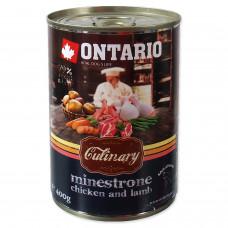 """Ontario - Консервы для собак """"Минестроне с Курицей и Ягненком"""""""