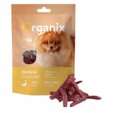 Organix - Лакомство для собак малых пород, нарезка утиного филе 100% мясо (Duck fillet/ shredding for small breeds)