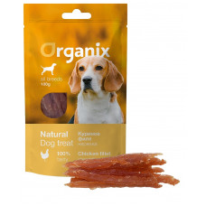 Organix - Лакомство для собак «Нарезка из куриного филе» (100% мясо) (Chicken fillet/ shredding)100 гр