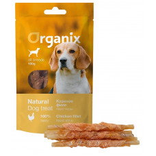 Organix -  Лакомство для собак «Твистеры куриные» (100% мясо) (Chicken fillet/ twist stick) 100 гр