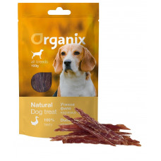 Organix - Лакомство для собак «Нарезка утиного филе» (100% мясо) (Duck fillet/ shredding) 100 гр