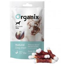 Organix - Лакомство для собак «Утиное филе на косточке с кальцием» (100% мясо) (Duck fillet/ calcium twisted),