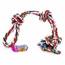 """Papillon - Игрушка для собак """"Веревка двойная с 3 узлами"""", хлопок, 60 см"""