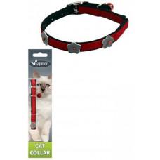 Papillon - Светоотражающий ошейник для кошек 10мм-28см, красный