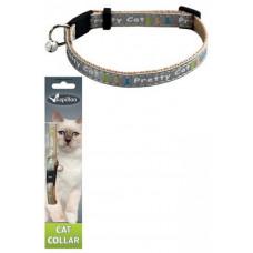"Papillon - Ошейник для кошек ""Китти"" 10мм-21-33см, серый"