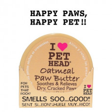 Pet Head - Масло для потрескавшихся Лап с маслами ши, овсянки, жожоба, кокоса, оливок и алоэ вера, Oatmeal natural paw butter