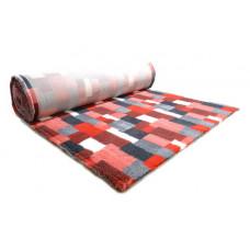 ProFleece коврик меховой В Клетку 1х1,6 м красный/угольный