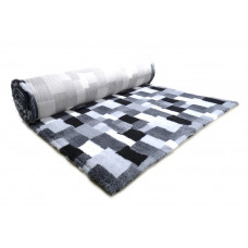 ProFleece коврик меховой В Клетку 1х1,6 м черный/белый