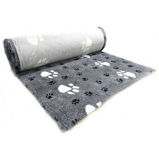 ProFleece коврик меховой Большая Лапа 1х1,6 м черный/белый