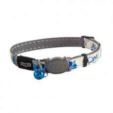 """Rogz - Ошейник с застежкой для кошек 1,1x20x31см, GlowCat, """"Синие цветы"""""""