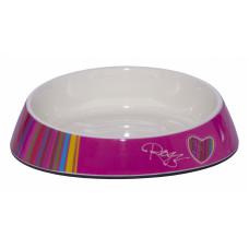 """Rogz - Миска для комфортного кормления """"Fishcake"""" 200 мл, """"Розовые леденцы"""" (MELAMINE CAT BOWL) CBOWL31H"""