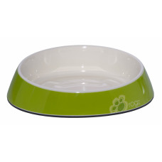 "Rogz - Миска для комфортного кормления ""Fishcake"" 200 мл, ""Лаймовые лапки"" (MELAMINE CAT BOWL) CBOWL31L"
