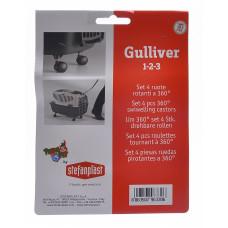 Stefanplast - Колеса для переносок Gulliver и Gulliver Deluxe 1,2,3  (Set 4 360° castors)96330