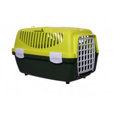Stefanplast - Переноска Gulliver 1 Trendy Colour салатово-зеленая (до 6кг) с ПЛАСТИК.дверкой, 48*32*31см