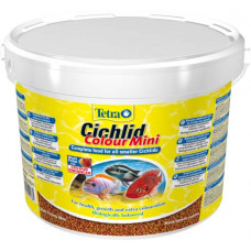 Tetracichlid colour mini корм для всех видов цихлид для улучшения окраса 10 л (Ведро)