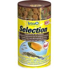 """Tetra selection корм для всех видов рыб """"4 вида"""" хлопья/чипсы/гранулы 250 мл"""