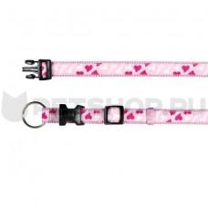 """Trixie - Ошейник """" Сердце"""", 22 - 35 см, 15 мм, нейлон, розовый"""