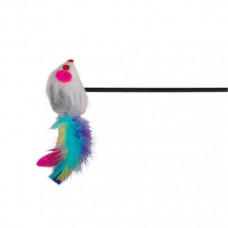 Trixie - Игрушка д/кошек 1Удочкая-дразнилка с Мышкой, пластик/мех 50см