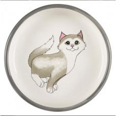 Trixie - Миска для кошек  0,3л/ф 15см, серый