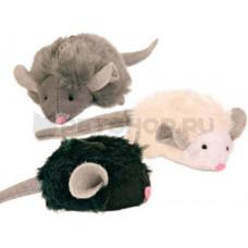 Trixie - Игрушка д/кошек Мягкая мышка с микрочипом, 6,5см