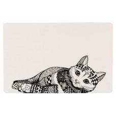Trixie - Коврик под миску, 44 × 28 см, белый/черный