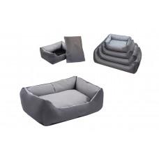 Yami-Yami - Лежак прямоугольный с подушкой №0, 45*33*15 серый