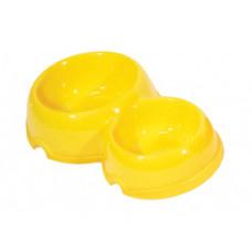 Yami-Yami - Двойная круглая миска для собак пластиковая, 200 и 350мл