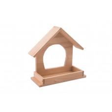 "Yami-Yami - Кормушка уличная для птиц из дерева ""Конфетти"", неокрашенная (21,5х8хh19,"