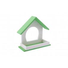 "Yami-Yami - Кормушка уличная для птиц из дерева ""Конфетти"", зеленая (21,5х8хh19,"