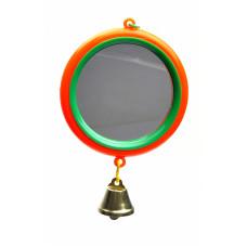 Yami-Yami - Зеркало с большим колкольчиком для попугая